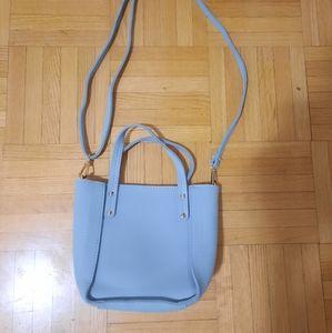 Miniso pastel blue bucket bag